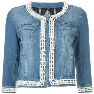 GUILD PRIME embellished fitted denim jacket