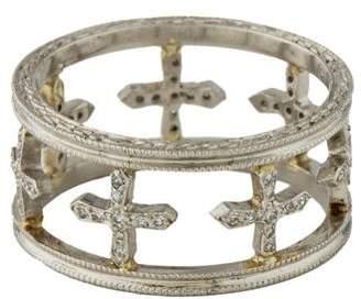 Cathy Waterman Platinum Diamond Cross Ring