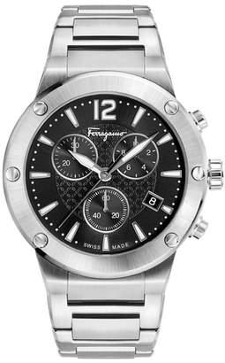 Salvatore Ferragamo F80 Chronograph Bracelet Watch, 44mm