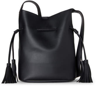 Street Level Round Two Tassel Bucket Bag