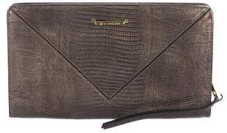 Linea Pelle Embossed Leather Clutch