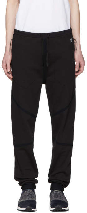Black Taped Quick Dry Lounge Pants
