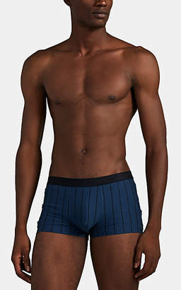 Hanro Men's Striped Stretch-Cotton Boxer Briefs - Blue