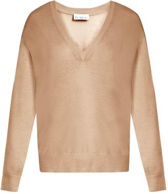 Raey V-neck fine-knit cashmere sweater