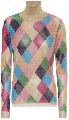 Miu Miu Lamé turtleneck sweater