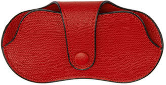 Valextra Red Leather Glasses Case
