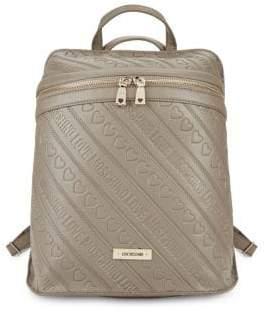 Love Moschino Debossed Backpack