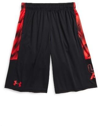 Boy's Under Armour Stunt Heatgear Shorts $27.99 thestylecure.com