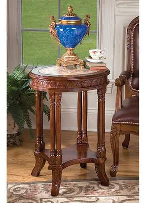 Toscano Design Balfour Inlaid Marble Colonnade Table