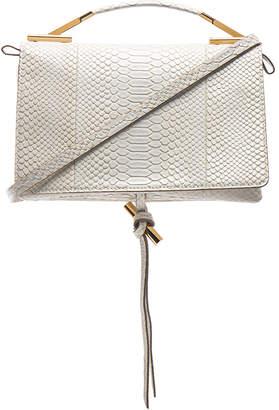 Stella McCartney Small Snakeskin Embossed Shoulder Bag