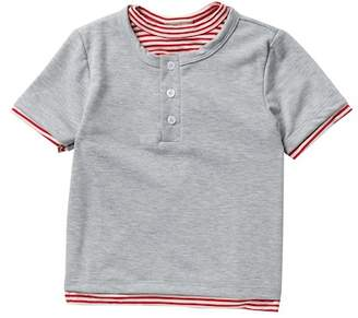 AMERICAN THREADS Short Sleeve Two-Fer Henley Tee (Toddler Boys)