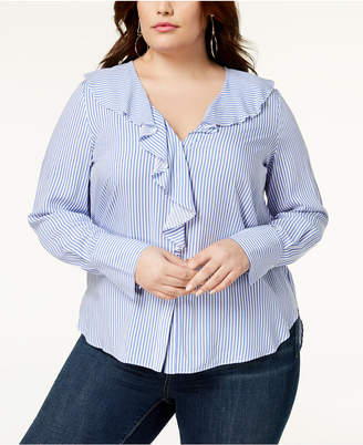 Soprano Trendy Plus Size Ruffled Blouse
