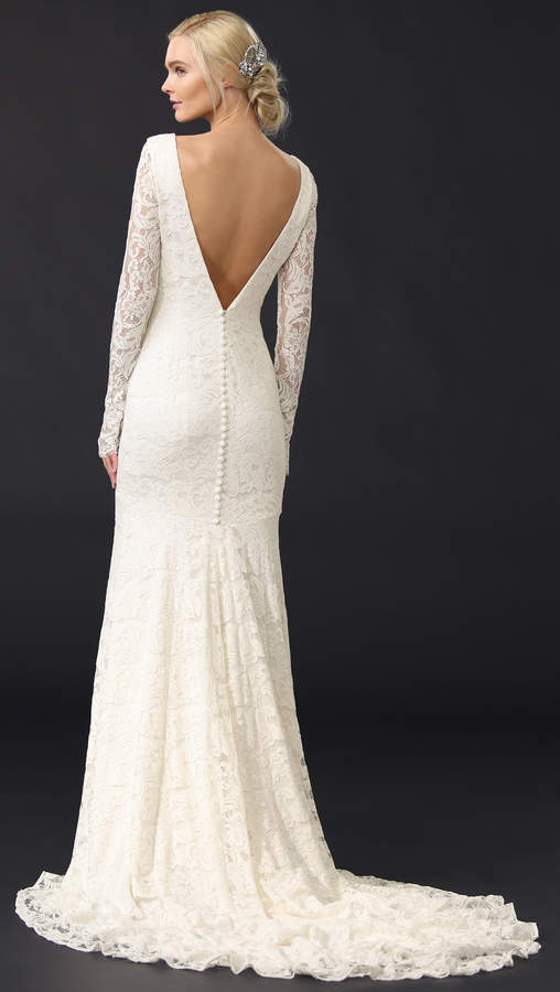 Theia Nicole Lace Gown 2