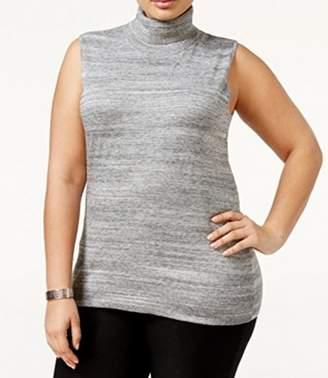 Calvin Klein Women's Plus Size Racer Turtleneck Sweater