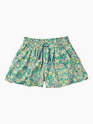 Boden Mini Girls' Printed Shorts, Sea Breeze