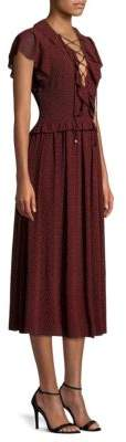 MICHAEL Michael Kors Lace-Up Maxi Dress