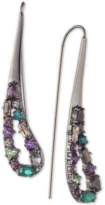 Carolee Hematite-Tone Crystal Drop Earrings