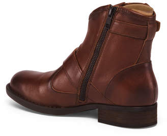 Børn Buckle Leather Ankle Booties