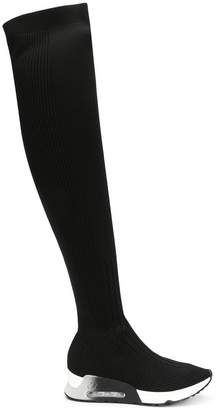 Ash over knee sock boots