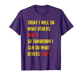 I WILL! I CAN! Positive Life Energy Workout Gym T-Shirt