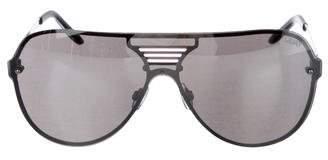 Quay Rimless Mirrored Sunglasses