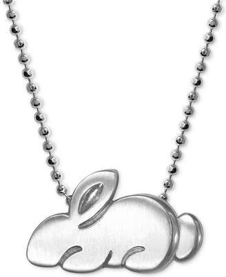 Alex Woo Little Rabbit Pendant Necklace in Sterling Silver