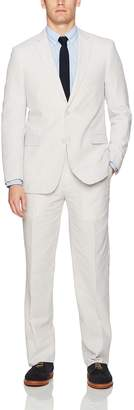Adolfo Men's Seersucker Modern Fit Suit