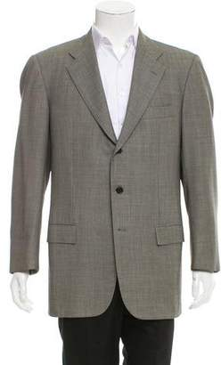 Kiton Patterned Wool Blazer