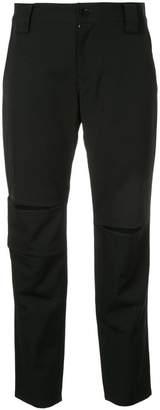 Yohji Yamamoto slit detail cropped trousers
