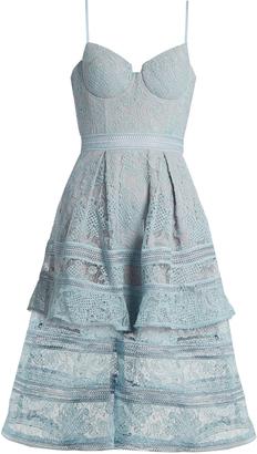 SELF-PORTRAIT Paisley lace midi dress $475 thestylecure.com
