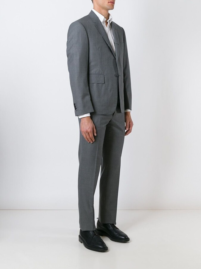 Thom Browne Classic Suit In Medium Grey Super 120's Wool Plain Weave