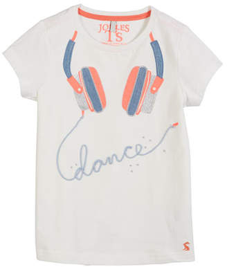 Joules Astra Headphone Applique Tee, Size 3-10