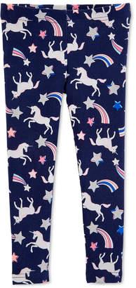 Carter's Carter Little Girls Unicorn-Print Leggings