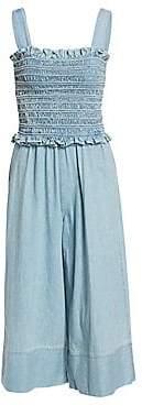 7b6b6b7a5f0a Sea Women s Dakota Smocked Denim Jumpsuit - Size 0