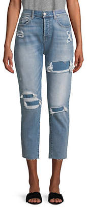 7 For All Mankind High-Waist Josefina Destroyed Jeans