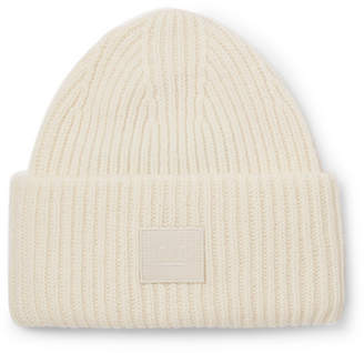 505e58e67b0 Acne Studios Ribbed Wool Beanie - White