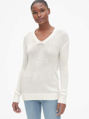 Gap Featherweight V-Neck Pullover Sweater