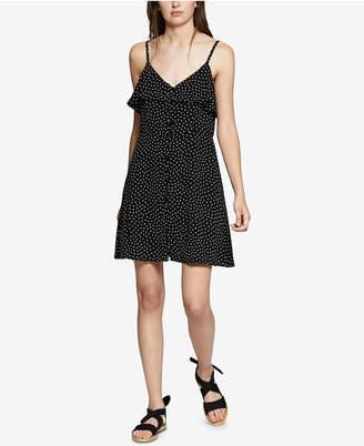 Sanctuary Rafaella Dot-Print Ruffled Dress