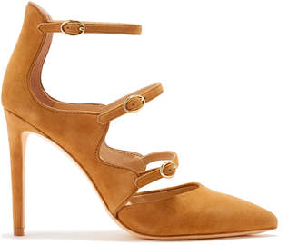 Rachel Zoe Phoenix Multi-Strap Point-Toe Suede Pumps