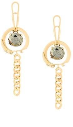 Wouters & Hendrix Curiosities Keyring pyrite earrings