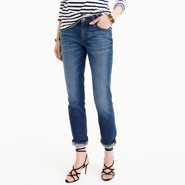J.Crew Slim broken-in boyfriend jean in Hemlock wash