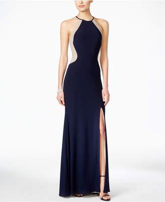 Xscape Evenings Beaded Halter Gown