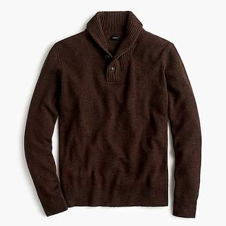 J.Crew Rugged merino wool two-button shawl-collar pullover