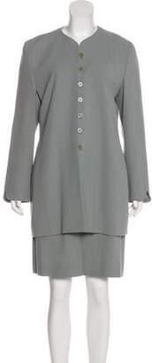 Giorgio Armani Wool Skirt Suit Set