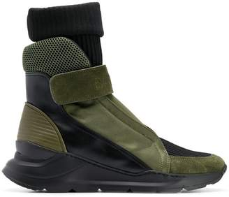 Balmain sock insert hi-top sneakers