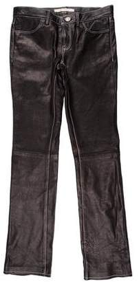 J Brand Leather Straight Leg Pants w/ Tags