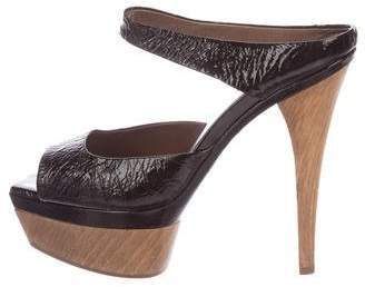 Marni Patent Leather Platform Sandals