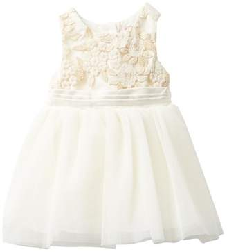 Nanette Lepore Lurex Embroidered Tulle Dress (Baby Girls)