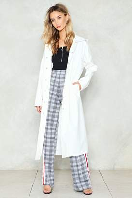 Nasty Gal Hit the Trench Vinyl Duster Coat