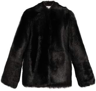 Raey 1970s Shearling Coat - Womens - Black